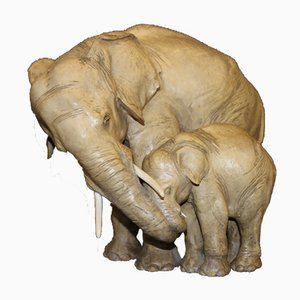 Elephants in Terracotta by Cacciapuotti, 1930s