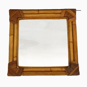 Quadratischer Bambus Spiegel