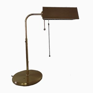 Vintage Brass Colored Swiveling Table Lamp