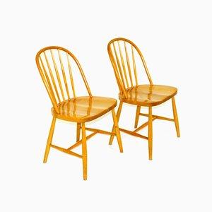 Pinnstol Stühle, Schweden, 1960er, 2er Set