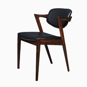 Palisander Modell 42 Stühle von Kai Kristiansen für Schou Andersen, 4er Set