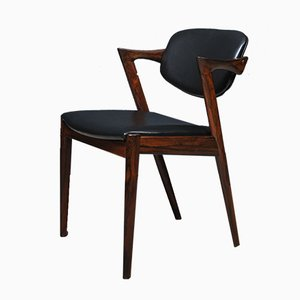 Rosewood Model 42 Chairs by Kai Kristiansen for Schou Andersen, Set of 4
