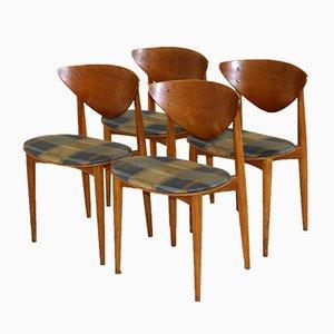 Stühle von Peter Hvidt & Orla Mølgaard-Nielsen, Schweden, 1960er, 4er Set