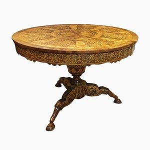 Intarsie Tisch von Martini, 1830er