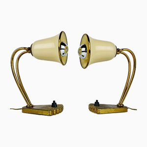 Mid-Century Murano Glass Bedside Lamps, Italy, 1950s Set of 2