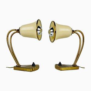 Mid-Century Nachttischlampen aus Muranoglas, Italien, 1950er, 2er Set