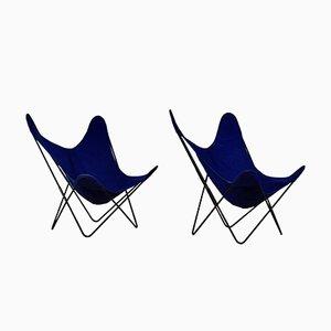 Butterfly Chair von Jorge Hardoy Ferrari für Knoll, 1970er, 2er Set
