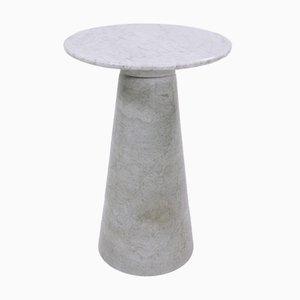 Esstisch oder Konsole mit Marmorfüßen und Glasplatte