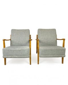 Nordic Lounge Chairs, 1950s, Set of 2