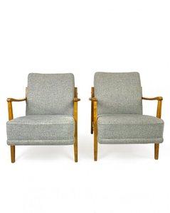 Nordische Sessel, 1950er, 2er Set