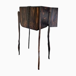 Mueble Ecailles de ébano Macassar o madera Coromandel de Frederic D.Driani