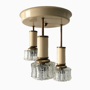 Pendant Lamp in Metal and Glass, 1960s