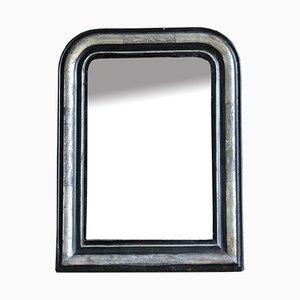 Ebonisierter & Blattsilber Spiegel
