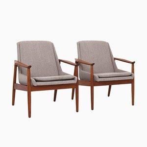 No. 810 Lounge Chairs by Arne Vodder for Slagelse Møbelværk, 1950s, Set of 2