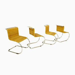 Rattan B42 Easy Chairs by Mies van der Rohe for Tecta, 1960s, Set of 4