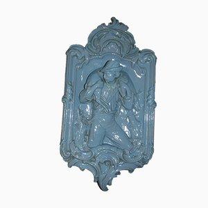 Art Nouveau Kaminplatte mit Figur