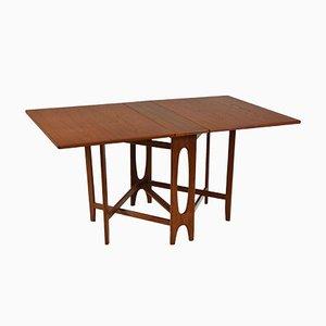 Mid-Century Teak Drop Leaf Dining Table by Bendt Winge, 1950s