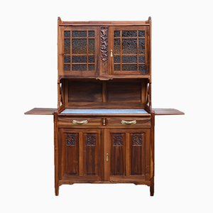 Art Nouveau Buffet in Carved Cherry Wood by La Ruche, 1911