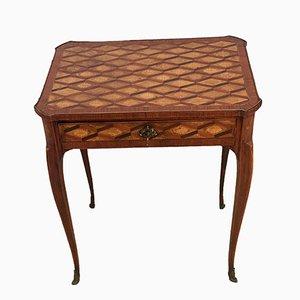 Kleiner Holz Furnier Tisch