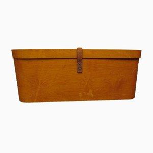 Antike Aufbewahrungsbox aus Schichtholz von Luterma