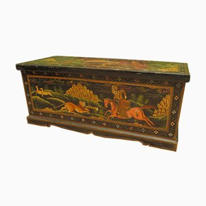 Antique Indian Painted Trunk, Rajasthan