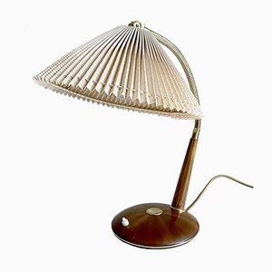 Dänische moderne Teak & Messing Schreibtisch- oder Tischlampe von Temde, 1960er