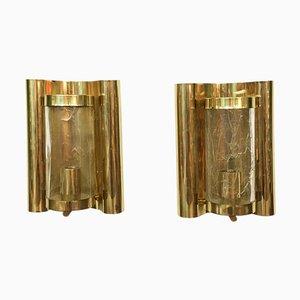 Glas Wandlampen von Carl Fagerlund für Orrefors, 2er Set