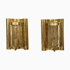 Glass Wall Lamps by Carl Fagerlund for Orrefors, Set of 2