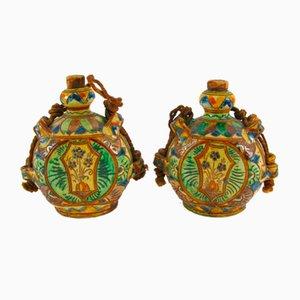 Ceramic Traveler's Flasks, Set of 2