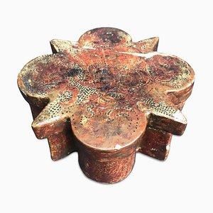 Versilberte und geprägte Polylobed Box, Spätes 1700er