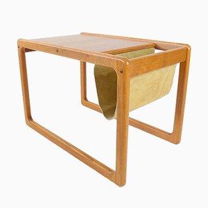 Teak Side Table with Newspaper Tray from Vildbjerg Møbelfabrik