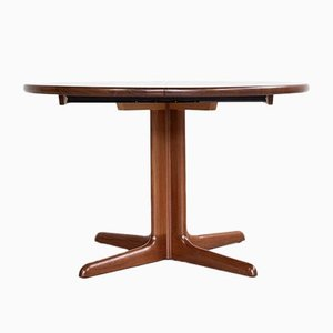 Danish Round Extendable Dining Table in Teak from Skovby, 1960s