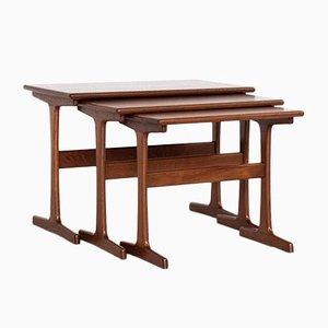 Tables d'Appoint Mid-Century en Teck par Kai Kristiansen pour Vildbjerg, Danemark, Set de 3