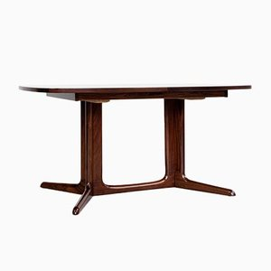 Danish Oval Extendable Dining Table in Rosewood, 1960s