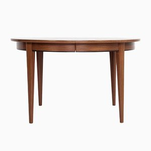 Danish Round Extendable Dining Table in Teak by Omann Jun, 1960s