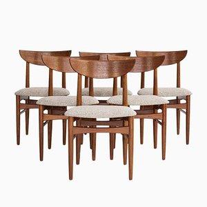Dänische Esszimmerstühle aus Teak von Dyrlund, 1960er, 6er Set