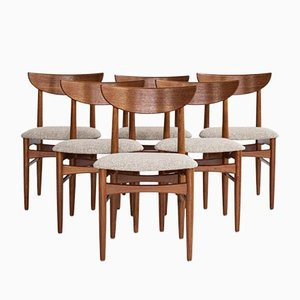 Danish Dining Chairs in Teak from Dyrlund, 1960s, Set of 6