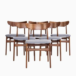 Danish Chairs in Teak from Schiønning & Elgaard, 1960s, Set of 6