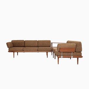 Mid-Century Danish Corner Sofa in Teak by Peter White & Orla Mølgaard-Nielsen for France & Son
