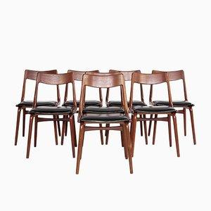Dänische Mid-Century Boomerang Stühle von Alfred Christensen für Slagelse, 8er Set