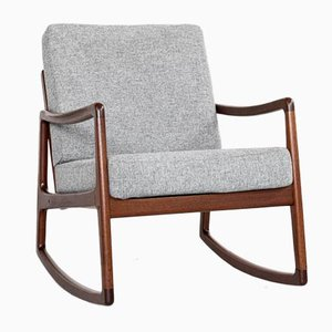 Danish Rocking Chair in Teak by Ole Wanscher for France & Søn, 1960s