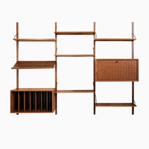 Royal Wall System in Teak by Poul Cadovius, 1960s