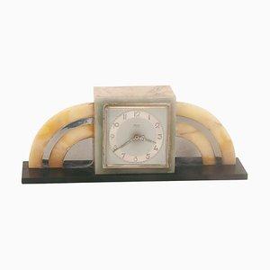 Horloge en Marbre de Bayard & Jours, France, 1940s