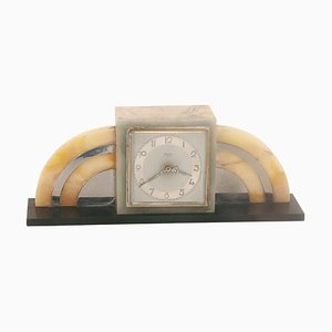 Uhr aus Marmor von Bayard & Jours, Frankreich, 1940er
