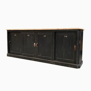 Antique Trade Cabinet with 4 Sliding Doors