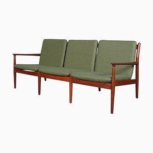 Teak Drei-Sitzer Sofa von Grete Jalk für Glostrup