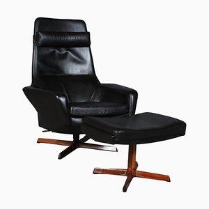 Sessel mit Fußhocker von IB Kofod-Larsen, 2er Set