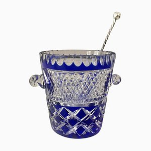 French Vintage Ice Bucket from Crystal De Boheme, 1980s