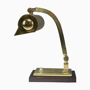 Italienische Art Deco Bankier Lampe