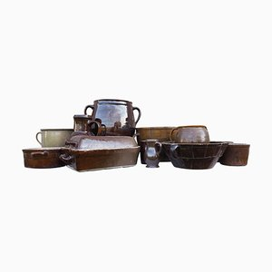 Earthenware Bowls, Czechoslovakia, 1960s, Set of 12